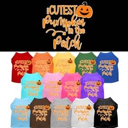 Cutest Pumpkin Screen Print Dog Shirt  - Halloween!