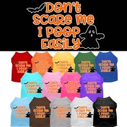 Don't Scare Me Screen Print Dog Shirt