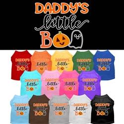 Daddy's Little Boo Screen Print Dog Shirt