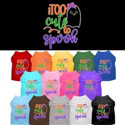 Too Cute To Spook Screen Print Dog Shirt