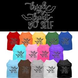 Trick or Treat Yo' Self Halloween Screen Print Dog Shirt