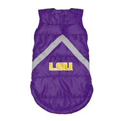 LSU Tigers Pet Puffer Vest