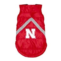 Nebraska Huskers Pet Puffer Vest