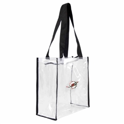 Miami Dolphins Floral Clear Square Stadium Tote