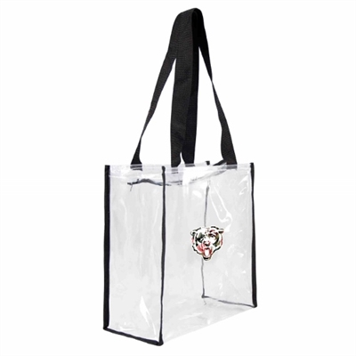 Chicago Bears Floral Clear Square Stadium Tote