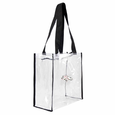 Denver Broncos Floral Clear Square Stadium Tote