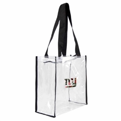 New York Giants Floral Clear Square Stadium Tote