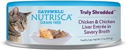 Nutrisca Cat Canned Food Shredded Food  2.7 oz. (Case of 24)