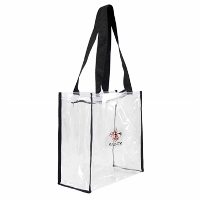 New Orleans Saints Floral Clear Square Stadium Tote
