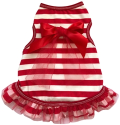 Peppermint Stripe - Dress - Red/White