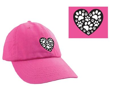 Heart with Paws Ball Cap