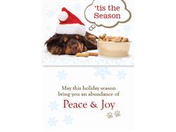 Peace & Joy Dog Bone (6 pack)