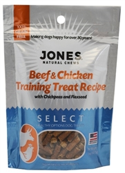 Jones Select Beef and Chicken Training Recipe 5 oz.