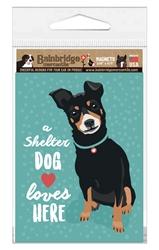 "A Shelter Dog Loves Here Magnet 3.56"" x 4.75"""