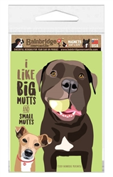 """I Like Big Mutts and Small Mutts Magnet 3.56"""" x 4.75"""""""