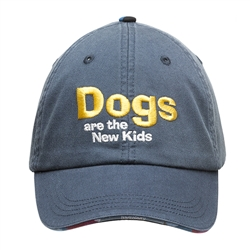 BARKOLOGY® DOGS ARE THE NEW KIDS BALL CAP - NAVY