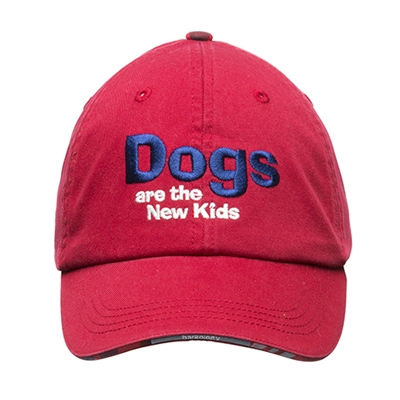 BARKOLOGY® DOGS ARE THE NEW KIDS BALL CAP - RED