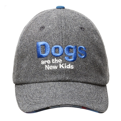 BARKOLOGY® DOGS ARE THE NEW KIDS BALL CAP - GRAY FLANNEL