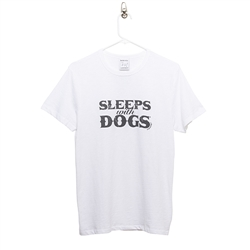 BARKOLOGY® SLEEPS WITH DOGS® UNISEX T-SHIRT - WHITE