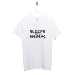 BARKOLOGY® SLEEPS WITH DOGS® UNISEX T-SHIRT - WHITE