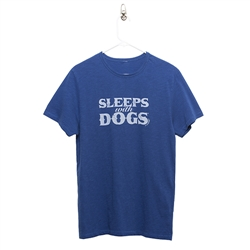 BARKOLOGY® SLEEPS WITH DOGS® UNISEX T-SHIRT - ROYAL BLUE
