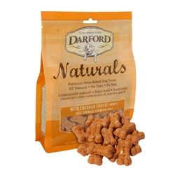 Cheddar Cheese Naturals MINIS Baked Dog Treats by Darford