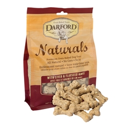 Liver & Flaxseed Naturals MINIS Baked Dog Treats by Darford