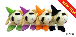Multipet Halloween Lamb Chop Witch Assorted Colors 10.5""