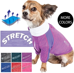 Pet Life® ACTIVE 'Chewitt Wagassy' 4-Way Stretch Performance Long Sleeve Dog T-Shirt