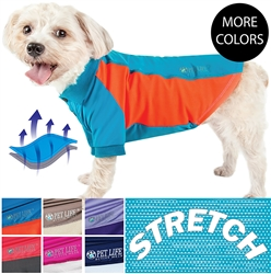 Pet Life® ACTIVE 'Barko Pawlo' Relax-Stretch Wick-Proof Performance Dog Polo T-Shirt