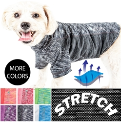 Pet Life® ACTIVE 'Warf Speed' Heathered Ultra-Stretch Sporty Performance Dog T-Shirt