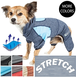 Pet Life® ACTIVE 'Fur-Breeze' Heathered Performance 4-Way Stretch Two-Toned Full Bodied Hoodie