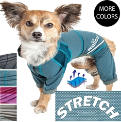 Dog Helios 'Namastail' Lightweight 4-Way Stretch Breathable Full Bodied Performance Yoga Dog Hoodie Tracksuit