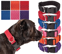 Pet Life® 'Aero Mesh' 360 Degree Dual Sided Comfortable and Breathable Adjustable Mesh Dog Collar