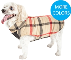 Pet Life® 'Allegiance' Classical Plaid Insulated Dog Coat