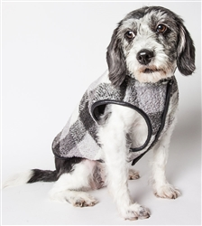Pet Life® 'Black Boxer' Classical Black, Grey and White Plaid Insulated Dog Coat