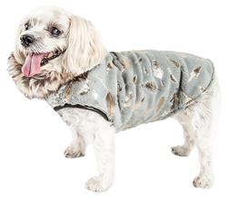 Pet Life® LUXE 'Gold-Wagger' Gold-Leaf Designer Fur Dog Jacket