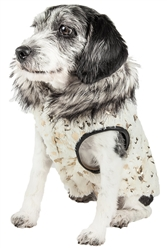 Pet Life® LUXE 'Gilded Rawffled' Gold-Plated Designer Fur Dog Jacket