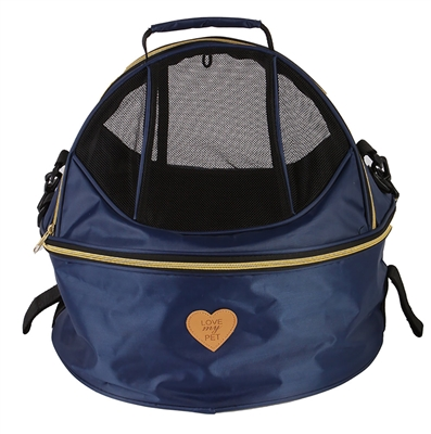 Pet Life® 'Air-Venture' Dual-Zip Airline Approved Panoramic Circular Travel Pet Dog Carrier