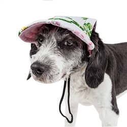 Pet Life® 'Botanic Bark' Floral UV protectant Adjustable Fashion Dog Hat Cap