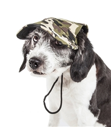 Pet Life® 'Torrential Downfour' Camouflage UV Protectant Adjustable Fashion Dog Hat Cap