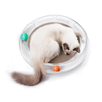 PETKIT 'Swipe' Interactive Premium Cat Scratcher Lounger and Interactive Chaser Puzzle Toy
