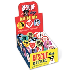 Rescue Dogs Button Box