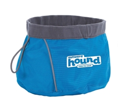 Outward Hound Collapsible Bowl  Blue - While Supplies Last