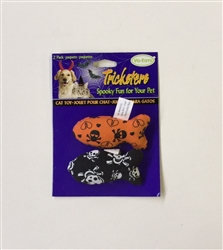 Halloween Black & Orange Skull Fish 2 pack