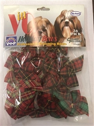 HOLIDAY PLAID BOWS 26 PACK