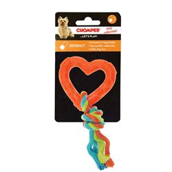 Chomper Mini Rope with TPR Heart