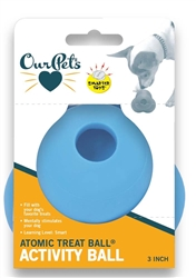 OurPets Atomic Treat Ball Slow Feed Dog Toy