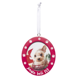 Jingle Bell Pup Photo Ornament