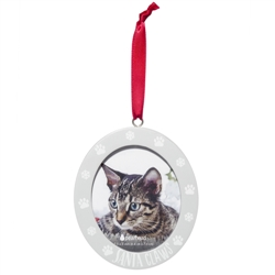 Santa Claws Cat Photo Ornament